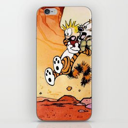 calvin hobbes shock iPhone Skin