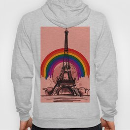 rainbow over la tour effel Hoody