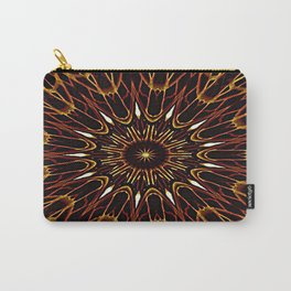 Brown Kaleidoscope Mandala Carry-All Pouch