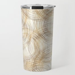 Metallic Line Art Pattern Travel Mug