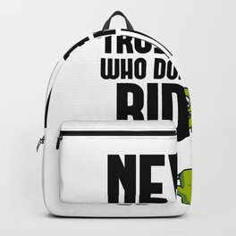 Funny, passionate Riding gift Backpack