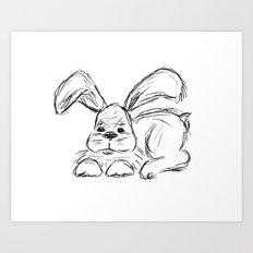 Hip Hop :: A Bunny Rabbit Art Print