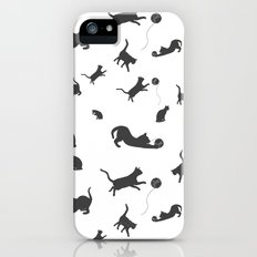 Cats Playing With Yarn iPhone (5, 5s) Slim Case