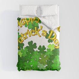 Happy Saint Patrick's Day with Shamrocks Comforters