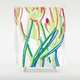 Hand painted Iris's Shower Curtain