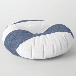 Nautical Blue & White Stripes Floor Pillow