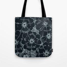 Dark Fall Floral Tote Bag