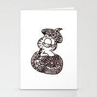 garfield Stationery Cards featuring 37. Garfield in Henna Pumpkin @ Halloween  by Hennaart yume by kat