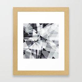 black and white multipolygon Framed Art Print