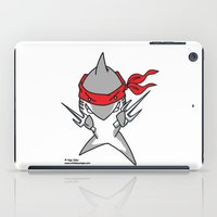 ninja turtle iPad Cases featuring Ninja Shark by Oh, Dakuwaqa!