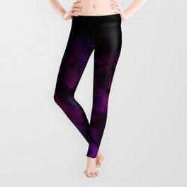 Ultra Violet Velvet Rose loves Black Leggings
