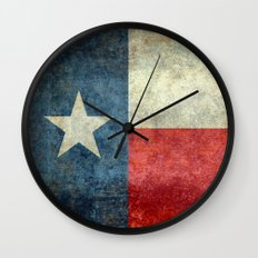Lone Star State Flag of Texas Wall Clock