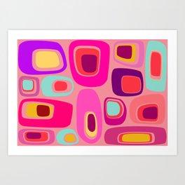 Mod Cobbles Art Print