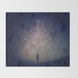 Alchemical Tetractys Throw Blanket