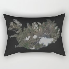 Iceland Map Low Poly Style Wanderlust Rectangular Pillow