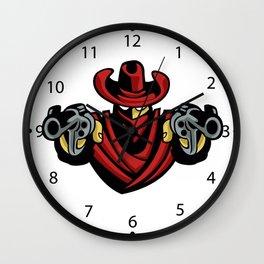 Outlaw Cowboy Wall Clock