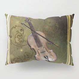 Wonderful violin with clef and key notes Pillow Sham