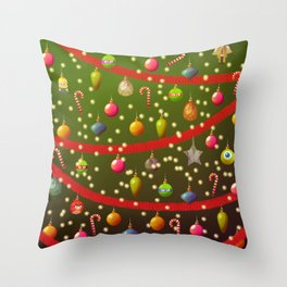 Look at these Christmas decorations! Throw Pillow
