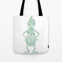 Mr.Grinch Typography Tote Bag