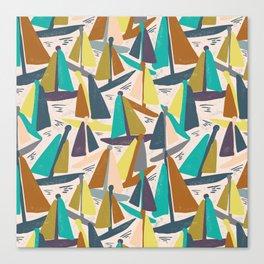Sydney Harbour Yachts Canvas Print