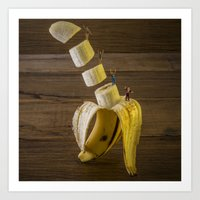 Magic banana Art Print