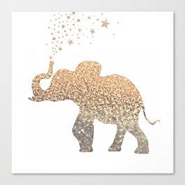 GOLD ELEPHANT Canvas Print