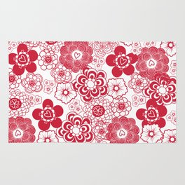 giving hearts giving hope: red garden Rug