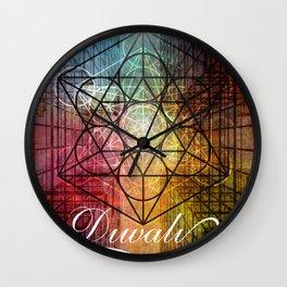Diwali Festival of Lights Zen Art Wall Clock