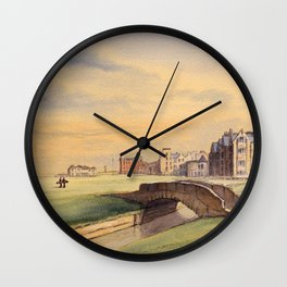 St Andrews Golf Course Scotland 18th Hole Wall Clock