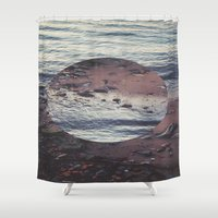 circle Shower Curtains featuring CIRCLE by Julia Yusupov