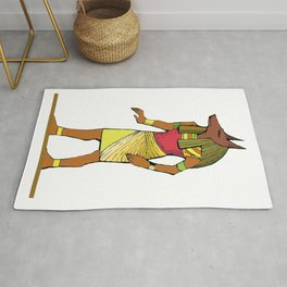 Ancient Egyptian Painting - Anubis, the Wolf God Rug