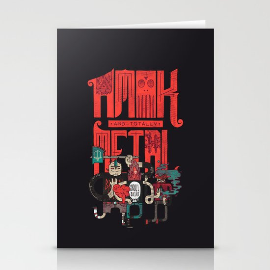 Amok And Totally Metal Stationery Cards