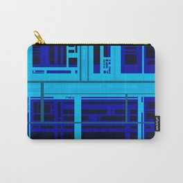 Blue Circuit Carry-All Pouch