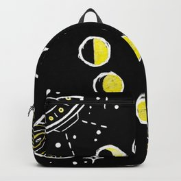 Gold Ink Space Themed Design Backpack