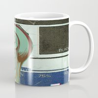 moon phase Mugs featuring Phase:4 by Matthew Jorde
