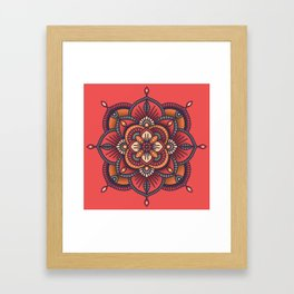 Red Mandala Framed Art Print
