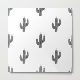 Cactus bloom - bw Metal Print