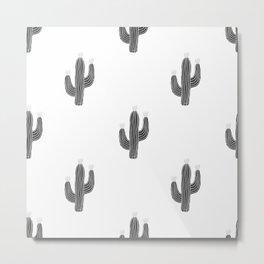 Cactus bloom - bw Metal Print