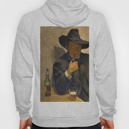 Self-portrait With Broad-brimmed Hat - Diego Rivera Hoody