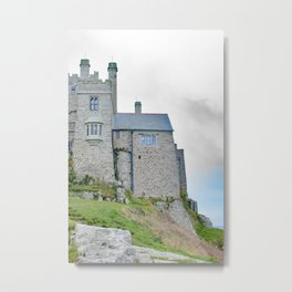 On the Cliff at St. Michael's Mount Metal Print