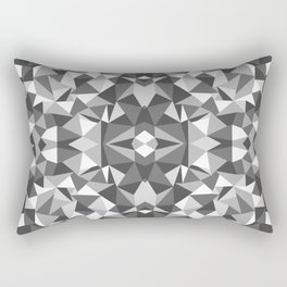Abstract Colide Black and White Rectangular Pillow