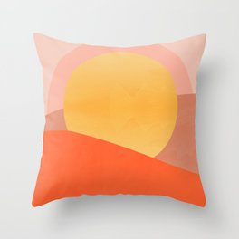 Little Darlin' Shape Study Pop-Art Print Throw Pillow