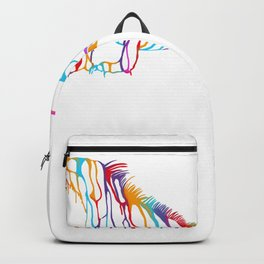 Paint flow Iguana Backpack