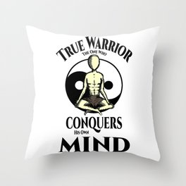 Conquer Your Mind Throw Pillow