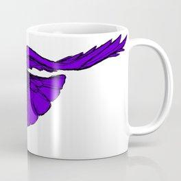 Purple Raven in Flight Coffee Mug