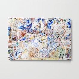 Mosaic of Barcelona VIII Metal Print