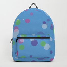 Fantasy Bubbles on Blue Backpack