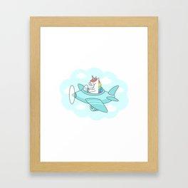 Unicorn Plane Framed Art Print
