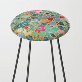Gilt & Glory - Colorful Moroccan Mosaic Counter Stool