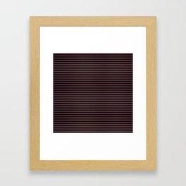 Thin Gold Pinstripe on Royal Purple and Black Framed Art Print